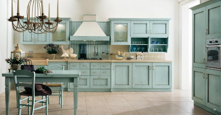 classical-kitchens-with-blue-kitchen-cabinets 6
